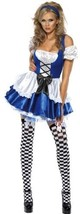 Women's Alice in Wonderland Costume, Dress and Hat, Troops image 1