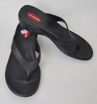 Okabashi Shoes Sandals Thong Wedge Black USA Womens Size M - $25.70
