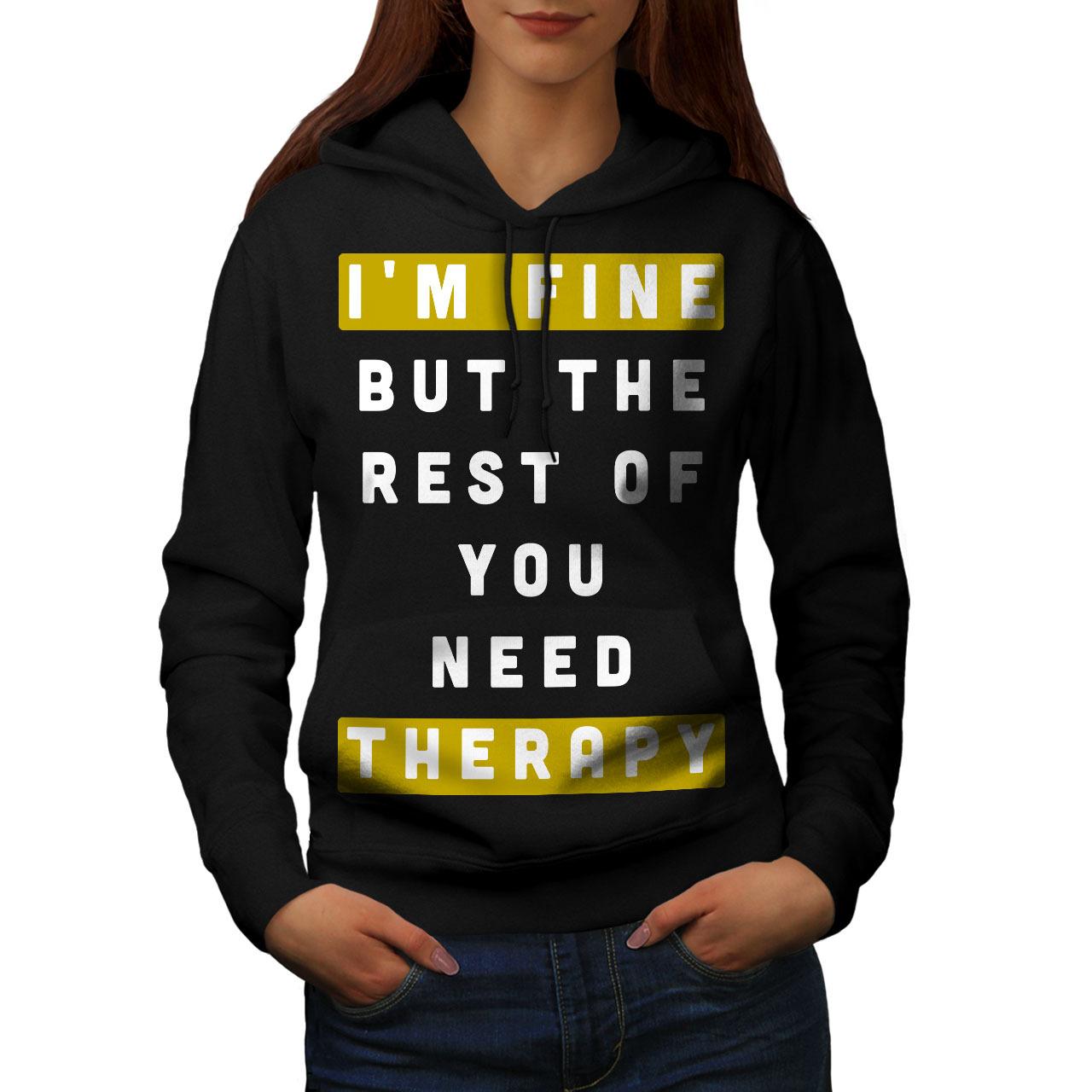 Need Therapy Sweatshirt Hoody Funny Quote Women Hoodie - $21.99 - $22.99