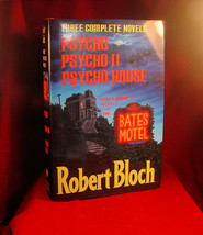 SIGNED COMPLETE NOVELS PSYCHO PSYCHO II AND PSYCHO HOUSE Robert Bloch SI... - $490.00