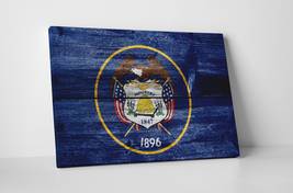 Vintage Utah State Flag Gallery Wrapped Canvas Wall Art - $43.95+