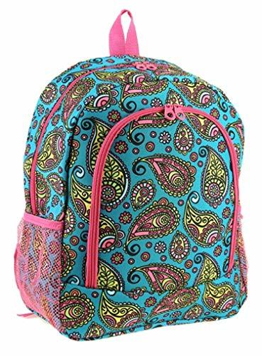 "Pretty Paisley Print 16"" School Travel Backpack"