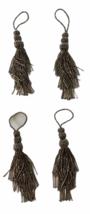 Metallic Beads Napkin Rings Tiebacks Tassels Silver Lot 4 Layers Fringe ... - $39.59