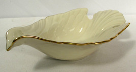 Vintage Lenox Candy Dish Dove Collection Gold Trim - $11.87