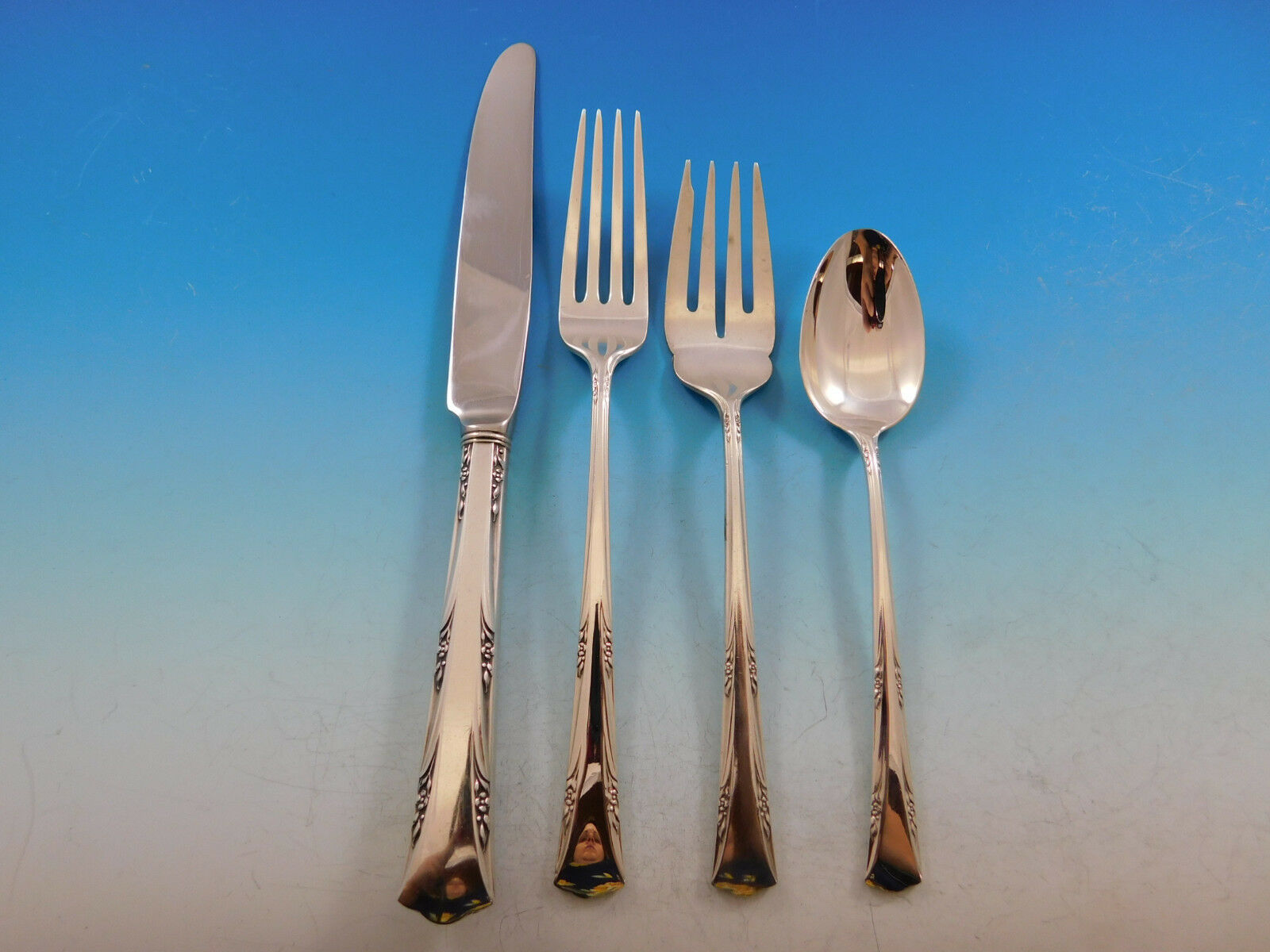 Greenbrier by Gorham Sterling Silver Flatware Set for 8 Service 56 Pieces image 3