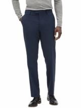 Banana Republic Mens Slim-Fit Wrinkle Resistant Blue Gingham Pants, 35X3... - $89.09