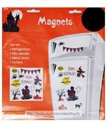 MIDWOOD* 13pc MAGNETS Decoration HALLOWEEN Bats+Cat+Pumpkins+Owl DECOR N... - €2,88 EUR