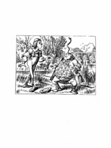 Alice In Wonderland Giclee Print From Sir John Tenniel- 'you balanced an... - $12.74