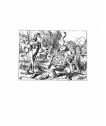 Alice In Wonderland Giclee Print From Sir John Tenniel- 'you balanced an... - $12.74