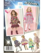 Girls Project Runway Dresses Sewing Pattern Sizes 4-8 Simplicity 1547 UNCUT - $4.99
