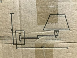 Kenroy Home Simplicity 13 in. Bronze Wall Swing Arm Lamp 30110BRZ - $59.95