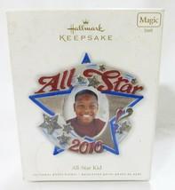 Hallmark keepsake christmas ornament all star kid 2010 photo holder - $9.90