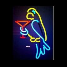 """Neon Parrot Martini Sculpture Bar Wall Art Sign Decor 8"""" x 14"""" - $89.99"""