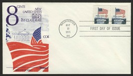#1338G 8c Flag Over White House-Pair, Fleetwood FDC **ANY 4=FREE SHIPPING** - $1.25