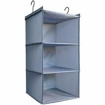 DonYeco Hanging Closet Organizer, Easy Mount 3 Shelves, Gray Oxford Cloth - $21.82