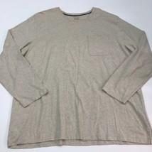 Covington T Shirt Men's Size 2XL XXL Long Sleeve Tan Crewneck Cotton Blend - $17.99
