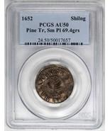 1652 Shilling Pine Tree, Sm Planchet 69.4grs PCGS AU50   US Coin - $11,750.00