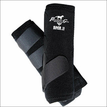 BLACK EXTRA LARGE PROFESSIONAL CHOICE SMBII SPORTS MEDICINE HORSE  BOOTS... - $73.95