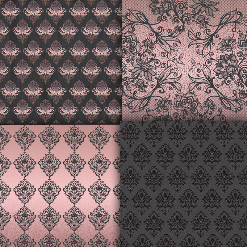 Rose Gold And Gray Digital Paper Pink And 13 Similar Items