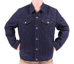 Levi's Men's Premium Cotton Button Up Denim Jeans Jacket Dark Blue 723350039 image 2