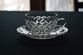 Anchor Hocking Waterford Waffle Tea Cup & Saucer - $4.95
