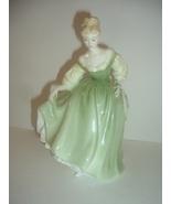 Royal Doulton HN 2193 Fair Lady Green Dress Lady Figurine - $54.99