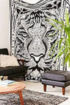 African Tiger Wall Decor Hippie Bohemian Mandala Tapestry Hanging Indian... - $443,85 MXN