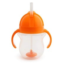 Munchkin Any Angle Click Lock Weighted Straw Trainer Cup, (Pack of 1|Ora... - $9.28