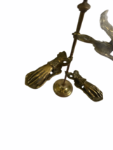 """Antique Desk Brass Victorian Hand Stand Letter Note Photo Recipe Holder 15"""" tall image 4"""
