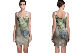 HULK marvel heroes comic image Bodycon Dress - $21.99+