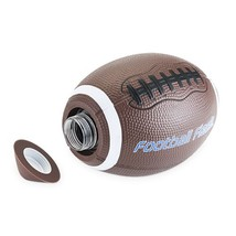 Flask Lid, Football 10 Oz Plastic Whiskey Liquor Flask, With Soft Silico... - €21,92 EUR