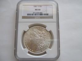 1881-S Morgan Silver Dollar , MS 66 , NGC Certified - $321.75