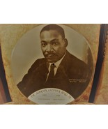 RARE HISTORICAL MARTIN LUTHER KING JR MEMORIAL PICTURE RECORD ALBUM & LE... - $65.00