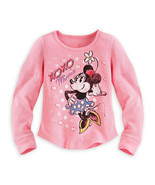 "Disney Store Girls Minnie Mouse ""XOXO"" Long Sleeve Thermal T-Shirt, Pink... - $19.00"