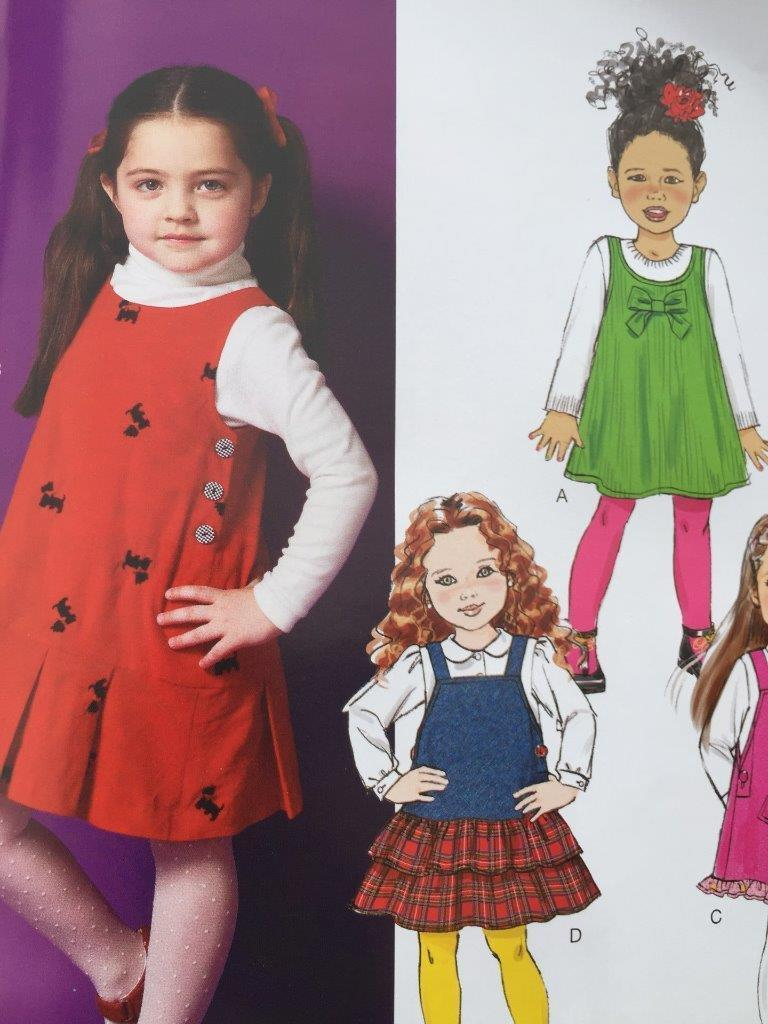 Primary image for Butterick Sewing Pattern 5945 Girls Childs Jumpers Size 6-8 New