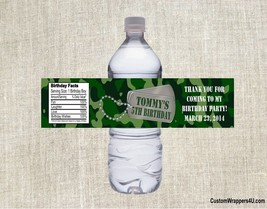 Army Military Camoflauge Birthday Party Favors Water Bottle Labels Custom - $3.96+