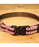 Chocolate Bubblegum Grosgrain Adjustable Cat Collar / Made in Japan - $22.00