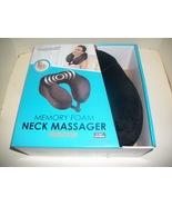 New! Health Touch Memory Foam Vibrating Neck Massager. BLACK. - $18.98