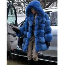 Women's Trendy Winter Quilted Faux Fur Hooded Thick Coat in 4 Hot Colors image 2