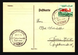 1940 Heligoland Germany First Day Cover Catalog Number B176 Special Postmark