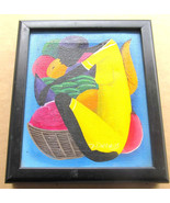 "Signed P- Darinus Untitled ""Women in The Market Place"" Haitian Art Canva... - $74.99"