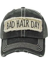 Distressed Vintage Style Bad Hair Day Hat Baseball Cap Runner Active Wear image 4