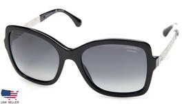CHANEL 5383 501/S8 BLACK w/ GREY LENS SUNGLASSES DISPLAY MODEL 55-18-140... - $197.99