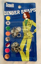 Vintage Ginger Snaps PEARL SNAP FASTENERS Buttons Western Shirt Scovill.... - $7.91