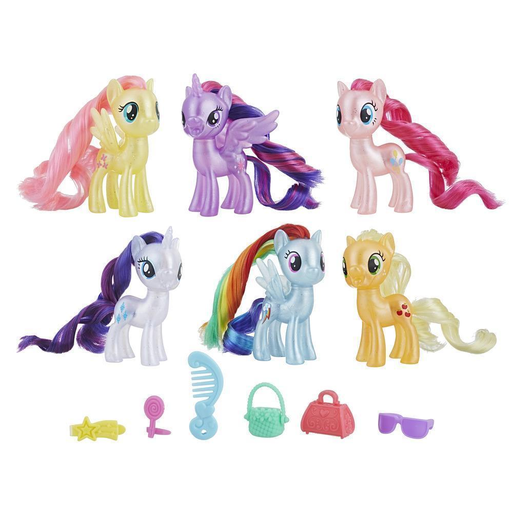 My Little Pony Best Gift Ever Holiday Set (6 Ponies w Mystery Gifts) NIB/Sealed