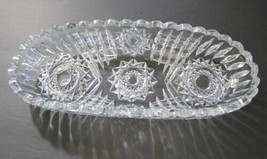ABP Crystal Cut Glass celery signed Libbey  - $55.17