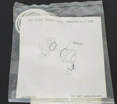 """BAG OF 10 NEW FISHER 01195-0036-0032 1195 SPARE ORIFICE BODY GASKETS FOR """"1"""" PIP"""