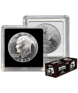 (20) BCW 2X2 COIN SNAP - DOLLAR - BLACK for Premium Long-term Storage Snaps - $11.16