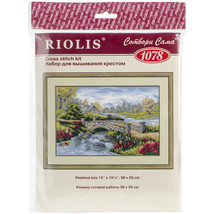 "RIOLIS Cted Cross Stitch Kit 15""X10.25""-Summer View(14 Ct) - $29.72"