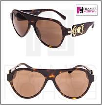 VERSACE Rock Icon Medusa 4323 Brown Tortoise Mirrored VE4323 Aviator Sunglasses - $224.73